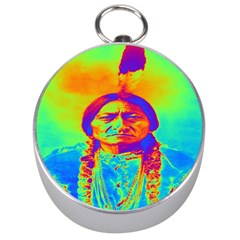 Sitting Bull Silver Compass by icarusismartdesigns