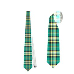 Emerald Plaid Necktie (two Sided)
