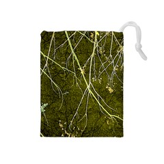 Wild Nature Collage Print Drawstring Pouch (medium) by dflcprints