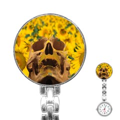 Sunflowers Stainless Steel Nurses Watch by icarusismartdesigns