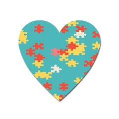 Puzzle Pieces Magnet (heart)