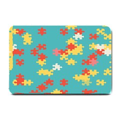 Puzzle Pieces Small Door Mat