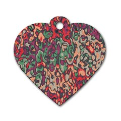 Color Mix Dog Tag Heart (two Sides)