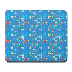 Colorful Squares Pattern Large Mousepad