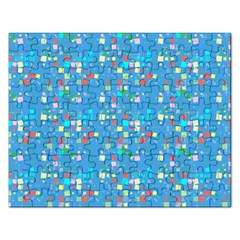 Colorful Squares Pattern Jigsaw Puzzle (rectangular)