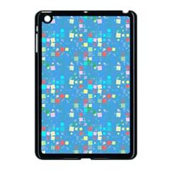 Colorful Squares Pattern Apple Ipad Mini Case (black)