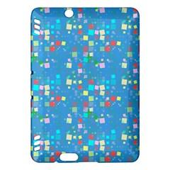 Colorful Squares Pattern Kindle Fire Hdx Hardshell Case