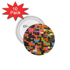 Colorful Pixels 1 75  Button (10 Pack)