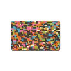 Colorful Pixels Magnet (name Card)