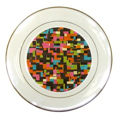Colorful Pixels Porcelain Plate