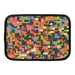 Colorful Pixels Netbook Case (medium)