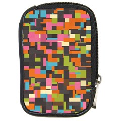 Colorful Pixels Compact Camera Leather Case