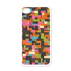 Colorful Pixels Apple Iphone 4 Case (white)