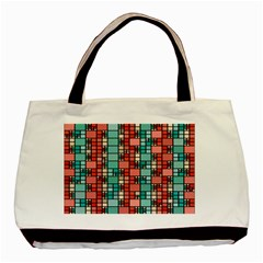 Red And Green Squares Classic Tote Bag (two Sides)