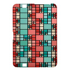 Red And Green Squares Kindle Fire Hd 8 9  Hardshell Case