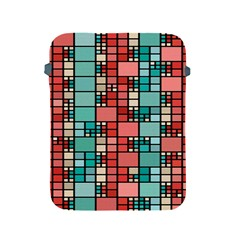 Red And Green Squares Apple Ipad 2/3/4 Protective Soft Case