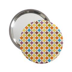 Colorful Rhombus Pattern 2 25  Handbag Mirror