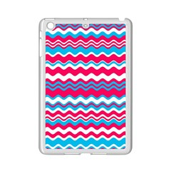 Waves Pattern Apple Ipad Mini 2 Case (white) by LalyLauraFLM
