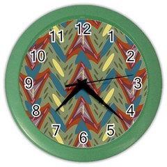 Shapes Pattern Color Wall Clock