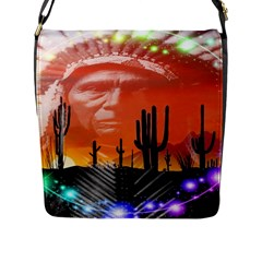 Ghost Dance Flap Closure Messenger Bag (large) by icarusismartdesigns