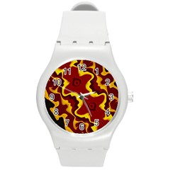 Tribal Summer Nightsdreams Pattern Plastic Sport Watch (medium)