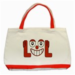 Laughing Out Loud Illustration002 Classic Tote Bag (Red) Front