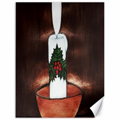 Candle And Mistletoe Canvas 18  X 24  (unframed)