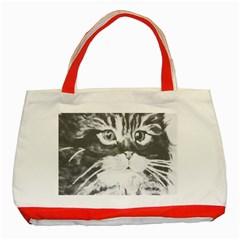 Kitten Bag Classic Tote Bag (red)