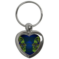 Binary Communication Key Chain (heart)