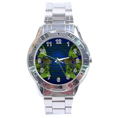 Binary Communication Stainless Steel Watch