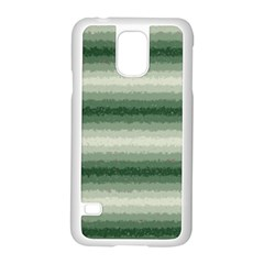 Horizontal Dark Green Curly Stripes Samsung Galaxy S5 Case (white) by BestCustomGiftsForYou