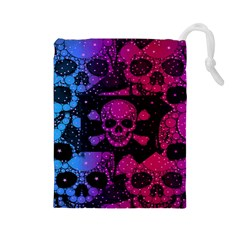 Skull&bones Pop Drawstring Pouch (large) by OCDesignss