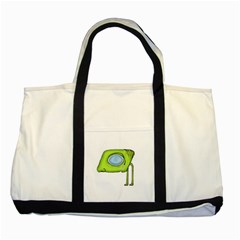 Funny Alien Monster Character Two Toned Tote Bag by dflcprints
