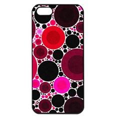 Retro Polka Dot  Apple Iphone 5 Seamless Case (black)