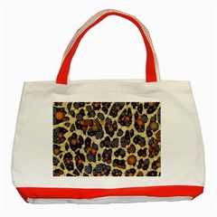 Cheetah Abstract Classic Tote Bag (red)