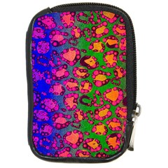 Florescent Cheetah Compact Camera Leather Case by OCDesignss