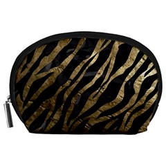 Gold Zebra  Accessory Pouch (large) by OCDesignss