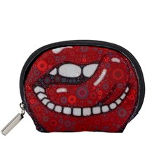 Yummy Red Lips Accessory Pouch (small) by OCDesignss