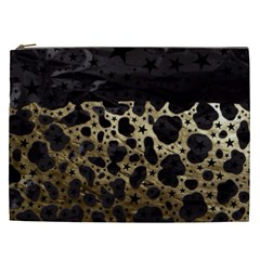 Cheetah Stars Gold  Cosmetic Bag (xxl) by OCDesignss