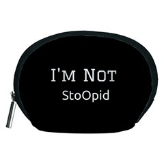 I m Not Stupid  Accessory Pouch (medium) by OCDesignss
