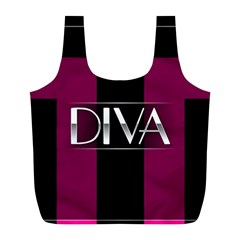 Pink Diva  Reusable Bag (l) by OCDesignss