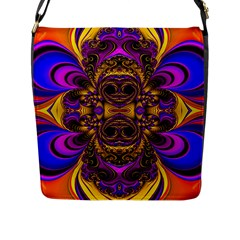 Crazy Abstract  Flap Closure Messenger Bag (Large) by OCDesignss
