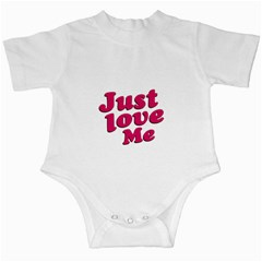 Just Love Me Text Typographic Quote Infant Bodysuit by dflcprints