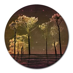 Fantasy Landscape 8  Mouse Pad (round) by dflcprints