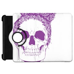 Purple Skull Bun Up Kindle Fire Hd Flip 360 Case