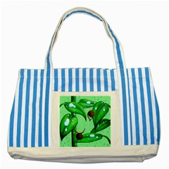 Playing In The Rain Blue Striped Tote Bag by retz