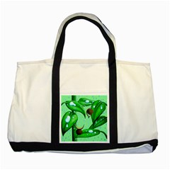 Playing In The Rain Two Toned Tote Bag by retz