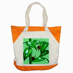 Playing In The Rain Accent Tote Bag by retz