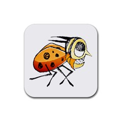 Funny Bug Running Hand Drawn Illustration Drink Coaster (square) by dflcprints