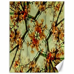 Floral Motif Print Pattern Collage Canvas 18  X 24  (unframed)